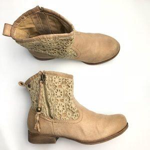 Roxy Malden Crochet Top Faux Leather Slouch
